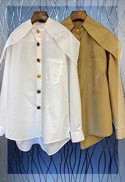 (수입) 켈리 버튼장식 셔츠