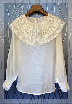 (수입) 카라 모먼트 블라우스 셔츠