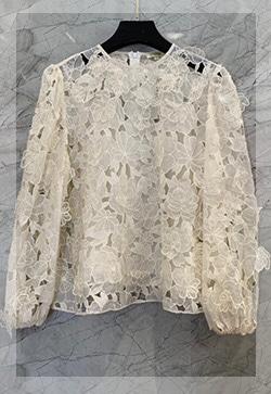 (수입) 꽃잎 슬링 블라우스 셔츠