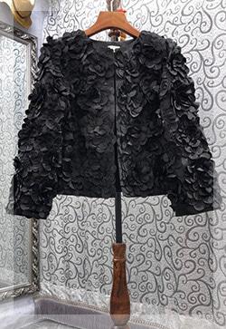 입체꽃잎 노카라 자켓