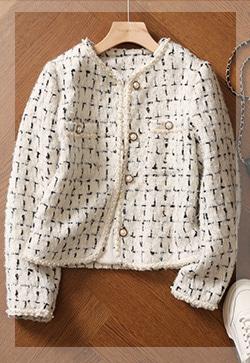 (수입)  프렌치 진주트위드 자켓