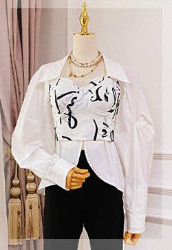 (수입) 롤린 바스트랩 셔츠