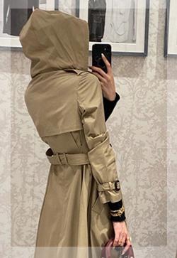 (수입) 모니카 후드 트렌치 자켓