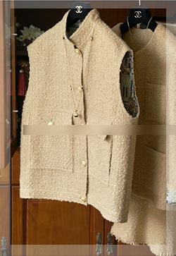 (수입) 시스터 민소매 베이지 조끼자켓