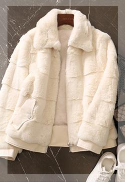 (수입) 럭셔리 인조밍크 코트
