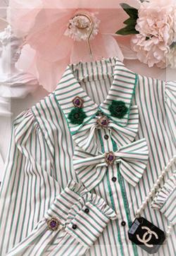 (수입) 그린꽃 러시안 셔츠